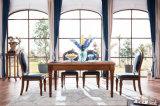 Nova mesa e mesa de jantar de estilo americano de madeira maciça e elegante (AD313)