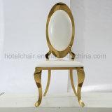 現代丸背のステンレス鋼の家具の余暇の椅子