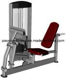 Sentado en la pierna y el anuncio de prensa de ternera fitness/gimnasio con SGS
