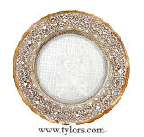Bronze et Silver Chargeur de verres métalliques les plaques de verre Tylors