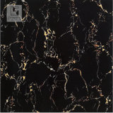 Azulejo negro de la porcelana, superficie Polished de mármol gris de la talla 600X600 de los azulejos de Brown