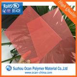 Трудный теплостойкmNs прозрачный желтый покрашенный лист пластмассы PVC