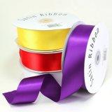 Coloridos de alta calidad de satén de poliéster cinta