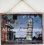 有名な建物デザイン長方形の金属の印刷の壁の装飾のプラク