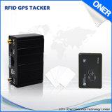 GPS van het voertuig identificeert het Volgende Apparaat met RFID en neemt vingerafdrukken van identiteitskaart