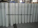 Tessuto di maglia adesivo della vetroresina con i certificati del Ce, panno di maglia di vetro di fibra