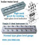 Transparente flaches Glas-waagerecht ausgerichtetes Anzeigeinstrument-Dampf-Anblick-Glas-Anzeigeinstrument-Flachwaagerecht ausgerichtete industrielle flüssige Stufen-Messinstrument-Schweißungs-Glasauflage-flüssige Stufenbezeichnung