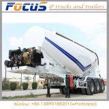 remorque de camion-citerne de la colle de la colle de silo en vrac du faible densité 38cbm-50cbm
