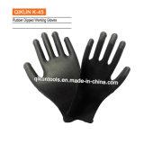 K-45 полиэстер/Нейлон трикотажные хлопок латекс рабочие перчатки
