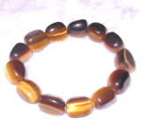 Semi Preciosa Pedra de cristal Gemstone Tiger Eye Bead Charming Bracelet Jewelry