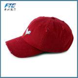 新式の刺繍された使い古した苦しめられた野球帽