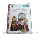 Service d'impression coloré de livre pour enfant de grippement spiralé (jhy-343)