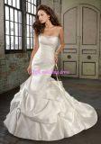 100% ha garantito 2011 nuovo abito di cerimonia nuziale senza bretelle in rilievo splendido della sirena/abiti nuziali (ML-1215)