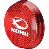 Verschiedenes Firmenzeichen gedruckter kundenspezifischer erstklassiger Reflektor der Werbegeschenk-LED mit einem Carabiner und drei blinkenden Modi