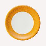 Placa de sushi de melamina com decoração colorida/100% a melamina Louça de mesa (QQA006B)