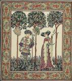 Het middeleeuwse Tapijtwerk van het Tapijtwerk van de Eenhoorn van het Tapijtwerk