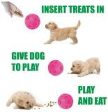 Intelligente Vinylfußball-Hundebehandlung-Kugel-Rosafarbene Ausgabe