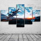 Stampa della tela di canapa di 5 PCS/Set Star Wars che vernicia arte moderna della parete della tela di canapa per l'illustrazione della decorazione della casa della decorazione della parete