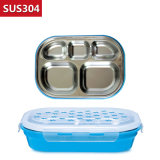 980ml Stainless Steel Food Container Bento Lunch Box Compartment 22122