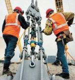 cilindro de tracción hidráulico del petróleo que empuja 50t con el pendiente