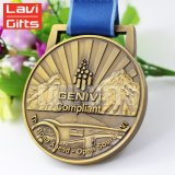 Medalha antiga finamente processada da concessão do bronze do cobre da prata do ouro