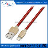 Фги сертифицированные кожа молнии Sync питающий кабель передачи данных USB для iPhone 7 плюс 7 6, плюс 5s 5