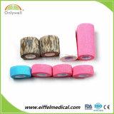 Do dedo coesivo do tornozelo do algodão atadura médica autoadesiva elástica impermeável da gaze