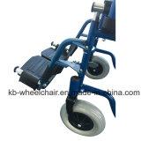 Silla manual del transporte del acero inoxidable, sillón de ruedas