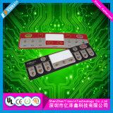 Interruptor de membrana usado capacitivo del equipo de telecomunicación del tacto