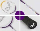 De Ovale HoofdRacket uit één stuk van het Badminton van de Legering van het Aluminium voor Beginner