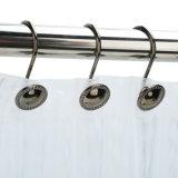 Aço inoxidável Easy-Gliding ganchos para chuveiro cortina do chuveiro coordena