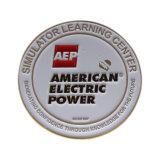 Plaqué or moulé Logo personnalisé Pièce de métal