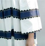 OEM 본래 생산 감미로운 형식 칼라가 없는 긴 소매 여자 t-셔츠