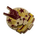 Neue Produkt-spezieller Entwurfs-empfindliches Sport-Medaillen-Mohnblume-Revers-Abzeichen