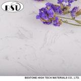 Encimera de mármol artificial blanca de la cocina