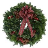 عيد ميلاد المسيح إكليل زخرفة نسيج مربّع إنحناء