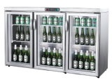 Refrigerador Counter-Top, porta de vidro mini-bar de cerveja Mini frigorífico