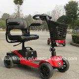 La aleación de aluminio plegable ligera batería de litio de cuatro ruedas, scooters de movilidad eléctrica