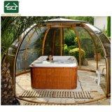 Couvercle en aluminium de plein air au bain à remous avec toit en polycarbonate
