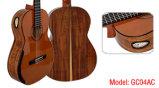 Guitare classique solide de double premier concert de transport gratuit (GC04A)