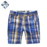 Pantalones cortos de los niños hechos antes de la tela Yarn-Dyed 100% del algodón