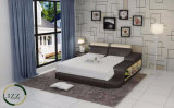 Кровать кожи двойника мебели Foshan самомоднейшая домашняя