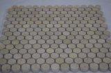 Bon prix plancher de carreaux de mosaïque Patterns Beige espagnol Penny mosaïque ronde