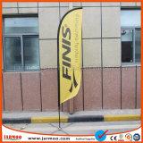 Bandiera della bandierina di spiaggia di pubblicità esterna con Palo e la base (JMLB-07)