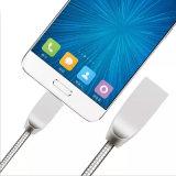 Cavo di dati durevole del USB del metallo in lega di zinco per il Mobile