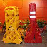 Barrière de portable en plastique, le trafic Extensible Barrière, barrière de trafic de pliage