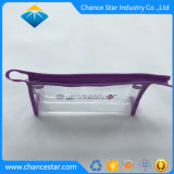 Imprimé personnalisé PVC sac à fermeture éclair avec du tissu Edge