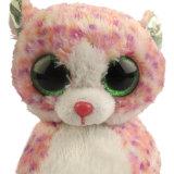 사랑스러운 분홍색 고양이 연약한 견면 벨벳 장난감 아기 신발
