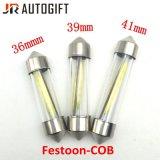 수정같은 자동 램프 FT C5w 옥수수 속 번호판 빛