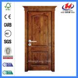 Puertas caseras interiores de la chapa de madera sólida del roble rojo (JHK-S04)